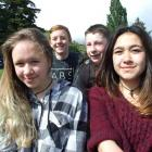 Aspen Holt (14), Max Duncan (14), Brayden Gardyne (13) and Aaliyah Wilso (14), all of Queenstown.