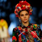 Traditional flowery Roma patterns were transformed into bold, modern prints. Photo: Reuters