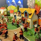 Mechanised pixie firefighters swoop in to save lives in a colourful exhibition. Photos: Linda...