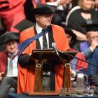 Award-winning  Australian journalist and science communicator Robyn Williams addresses University...