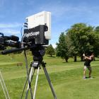 Animation Research Ltd's Ben Taylor tees off at the Otago Golf Club's Balmacewen course to test...
