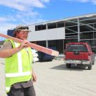 Construction worker Phil Broome at the site of the new Placemakers and Mico Bathrooms building in...