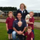 Ben and Tanya Davie, with children Oliver, Jacob, Luke and Charlotte.