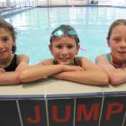 Top three placegetters in the individual girls' year 5-6 category of the Otago Primary and...