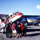 At the end of the May school holidays in 1962, youngsters gather at Haast airfield to say goodbye...