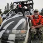 Robert Evans, of Invercargill, of the ``Hokonui A Team'', shows off his prize-winning vehicle. Photos by Pam Jones.