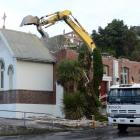 The St Bernadette's Church is no more after contractors demolished the almost 83-year-old building yesterday. Photos: Gerard O'Brien.