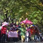 The Wakatipu Garden Club make a colourful walking party Photos: Craig Baxter.