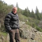 Central Otago Wilding Conifer Control Group project manager Phil Murray is flanked by wilding...