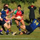 Action from today's club rugby semifinals between Harbour and Dunedin, and Southern and Kaikorai,...