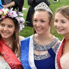 Festival Queen competition second runner-up Tania Ferreira (left), Queen Courtney Anderson and...
