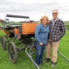 Christine Baird and Tony Daikee, of Waipahi, are both passionate about horses and horse drawn wagons and traps, as well as hens. Photo: Yvonne O'Hara