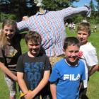 Charlotte Gregan (12, left), Archie McDiarmid (10), Tyne Grant (10) and Will Becker show off the...