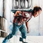 Moving the Forgotten Monument, by Fintan Magee is up for auction. Photos: Alan Dove/Gerard'OBrien