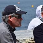 Sir Russell Coutts watches  his son Mattias race in Wanaka Yacht Club's Roys Regatta and...