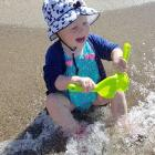 Aubree Watt (1) enjoys the water at Brod Bay, Lake Te Anau, on January 5. Photo: Rachael Watt.