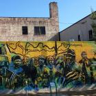 Mural in downtown Birmingham depicting the Civil Rights Movement. Photos: Julie Orr-Wilson