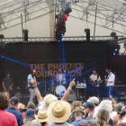 Members of The Phoenix Foundation entertain the crowd on Saturday. Photos: Sean Nugent