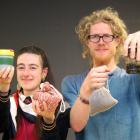 No-waste nomads Liam Prince and Hannah Blumhardt with some of their favourite tools to ward off...