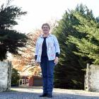 Jenny McDonald stands outside the former Wyllies Crossing school, which is now a private...