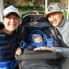 Jane Guy, Wren Guy-Yeo (9 months) and Trent Yeo, all of Queenstown.