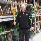 Craig Campbell with a sturdy fork and spade, his top two essential garden tools. Photos: Gillian...