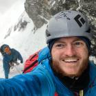 Luke Welch (left) and Chris Sommer enjoying the start of the climb. Photo: Supplied