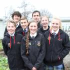 Otago-Southland representatives at this year's TeenAg and AgriKids competition, at the 2018 FMG Young Farmer of the Year in Invercargill this week, are (rear, from left) Levin Coulter (16) and James Scanlan (18); middle row left, Millar McElrea (13) and L