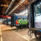 Former commuter train carriages are being refurbished at Hillside workshops for the planned Antipodean Explorer luxury train service. Photos: Simone Jackson
