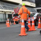 Dunedin has transformed into a maze of road cones this week as several transport projects coincide to create a perfect storm for city motorists. Photos: Stephen Jaquiery