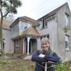 Melanie Kerr takes a breather outside the Tolcarne Ave home she is renovating. Photos: Gerard O...