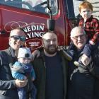 The Flack family  Chris, Leo (7 months), Jeff, Trevor and Archer (2). Photos: Gerard O'Brien