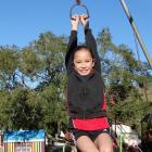 Totara School pupil Harmony Robinson plays at Totara School's playground. The school has grown...