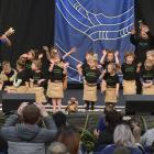 Portobello Kindergarten pupils take to the stage during Dunedin's 25th Polyfest at the Edgar...