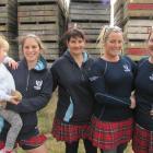 Dani Watson (3), Lauren Callander, Hayley Hunter, Genna Darling and Rebecca Favel, all of Roxburgh, at the Kilt Canter.