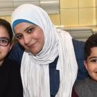 Rana Balasmeh (10), Rania Hassan and Qais Balasmeh (6), all of Dunedin.