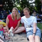 Sienna (1), Kirsten and Jason Eichstaedt, all of Dunedin.