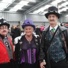 Sandy Byers-Evitt, Marie Crowe and Buckshot McKenzie, all of Invercargill.