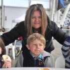 Tania Taylor, of Dunedin with her grandchildren, Chloe Taylor (5), of Invercargill, Jack Taylor ...