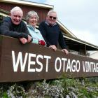 West Otago Vintage Club members, from left, Mark Tutty, Wilma Brock, and Charlie Davis, love to...