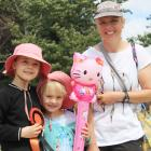 Gracie (8), Isabel (5) and Becky Jackson, of Palmerston.