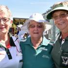 Lorraine Pape, of Fairfield, Jenny Bain and Siane Dore, both of Mosgiel