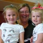 Trudy Pankhurst, of Invercargill, with granddaughters Isabella (4) and Charlotte (2) Duder, of Dunedin.