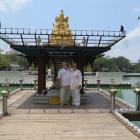 Deborah and Peter Heron at Seema Malakaya Temple. Photo: Deborah Heron