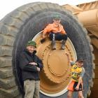 Loving the Wheels at Wanaka event are Dave Lott (90) and his grandchildren, George (4) and Henry ...