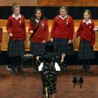 Valley Voices (Kaikorai Valley College) perform during the Big Sing at the Dunedin Town Hall...