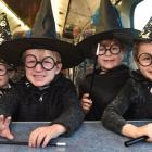 Enjoying a day out on the ODT Enchanted Express yesterday morning are Hogwarts hopefuls (from left) Harry (3), Cameron (4) and Madison Menzies (7), together with Annabell Smith (4), all of Dunedin. Photos: Peter McIntosh