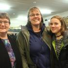 Lynley Woodward, of Riverton, and Rochelle and Charlotte (13) Deans, of Otatara.