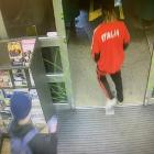 Police say the offender was initially wearing a black top and black pants but later put on a red...