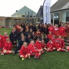 The girls teams from the 13s and 14s grade. Photo: Supplied